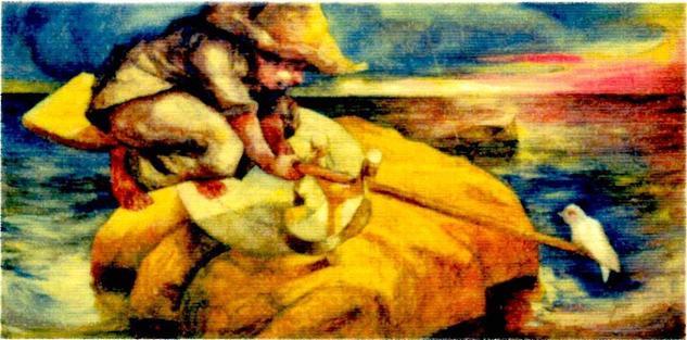 El Columpio Landscaping Oil Canvas