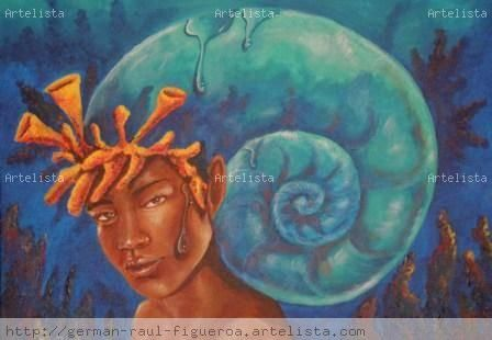Recuerdos Azules Acrílico Lienzo Retrato