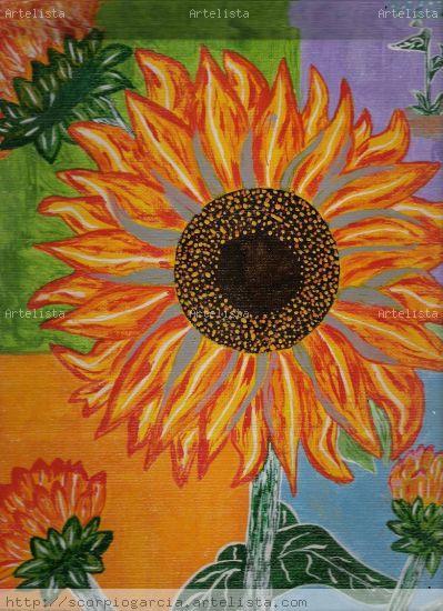 Sunflower Otros Acrílico Floral