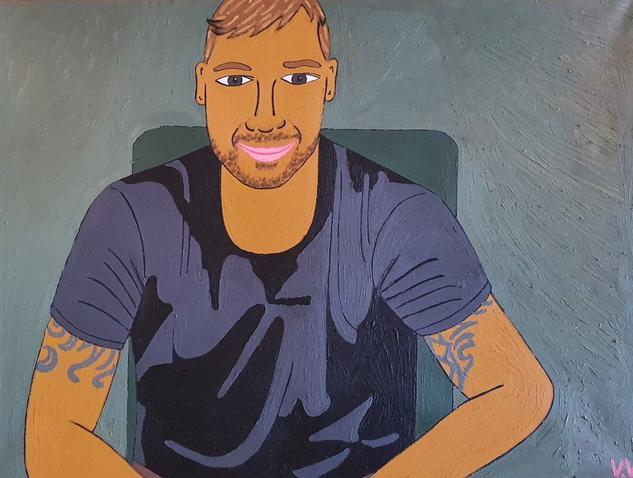 Ricky Martin Retrato Óleo Lienzo