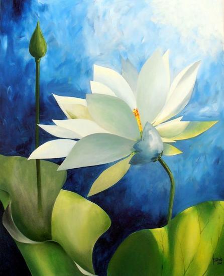 Flor Floral Acrílico Lienzo