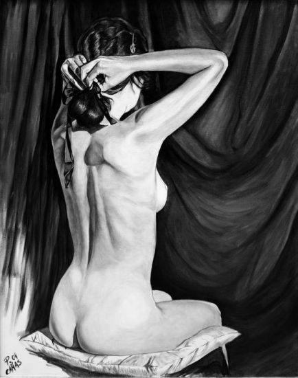 Desnudo Óleo Lienzo Figura