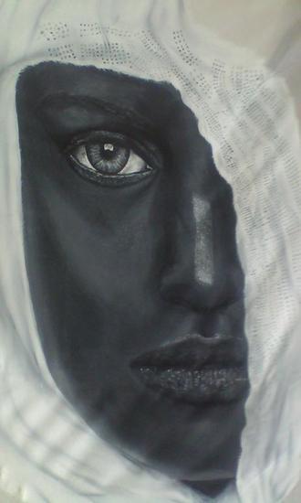 Venus noire Textile Oil Portrait