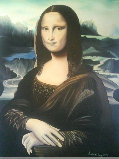 Monalisa ret Tela Óleo Retrato