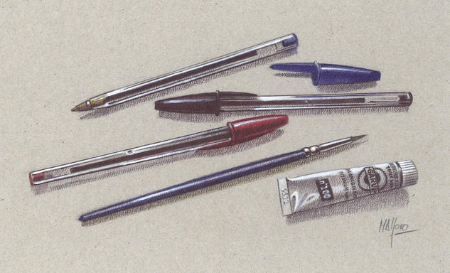 Bolígrafos XI o Los creadores Técnica Mixta
