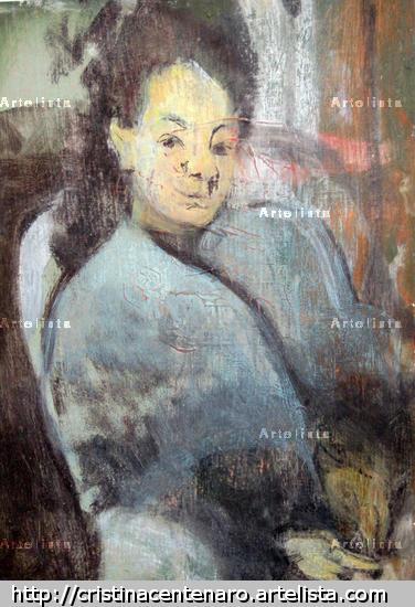 Homenaje a Edgar Degas II Card Oil Portrait