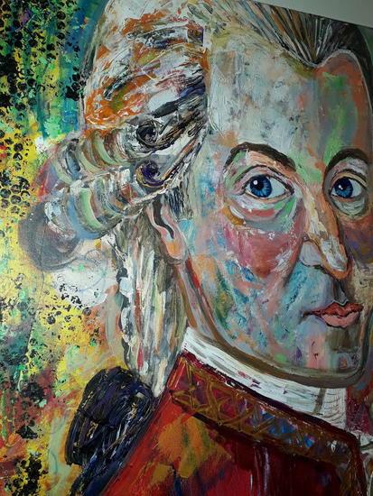 Mozart  Retrato Acrílico Lienzo