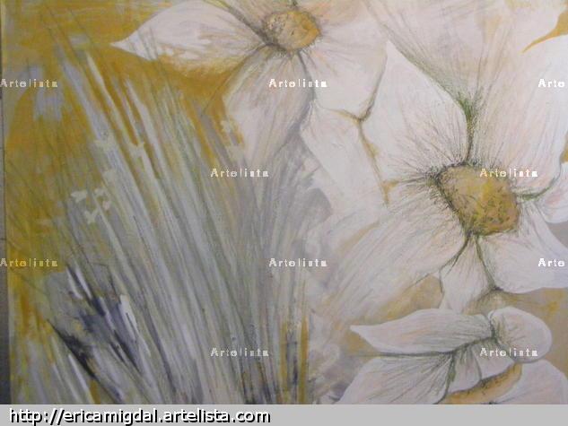 Primavera en el campo Paisaje Lienzo Acrílico