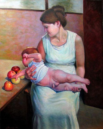 Mother and child Óleo Lienzo Otros