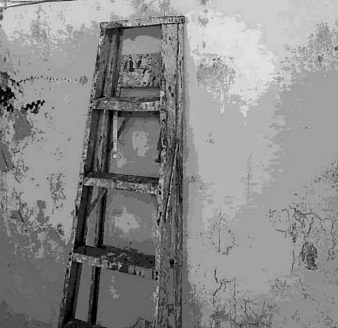 La escalera.