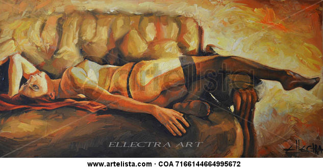 Confessions Canvas Oil Nude Paintings