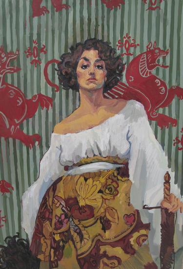 Judith Portrait Oil Panel