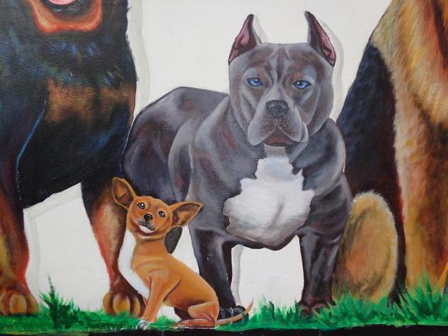 pit bull bully Otros Acrílico Otros