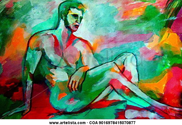 Refelxive figure Canvas Acrylic Figure Painting