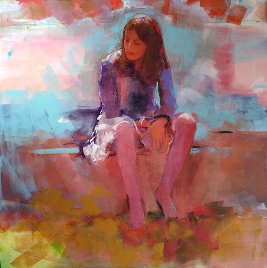 Alicia Canvas Acrylic Figure Painting
