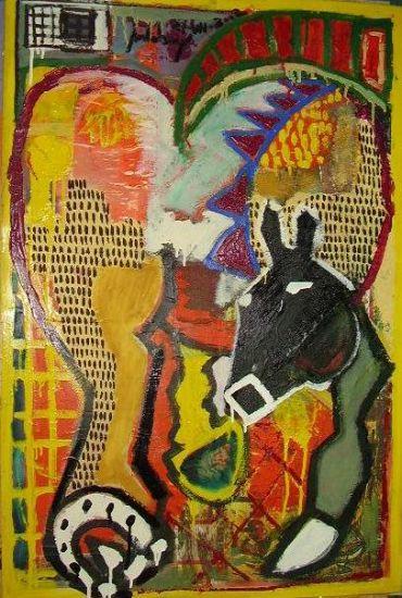 el amarillo caballo Media Mixta Otros Animales