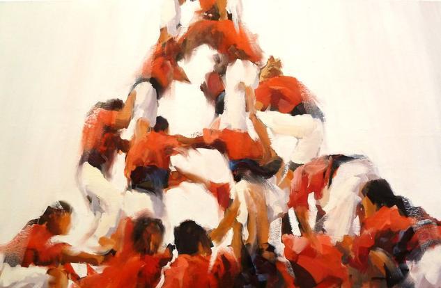 CASTELLERS Canvas Oil Figure Painting