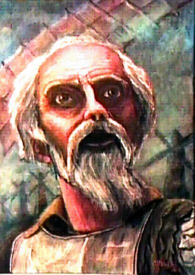 ALUCINANDO Acrílico Lienzo Retrato