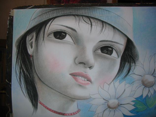 HOMENAJE AL INVIERNO Pastel Cartulina Retrato