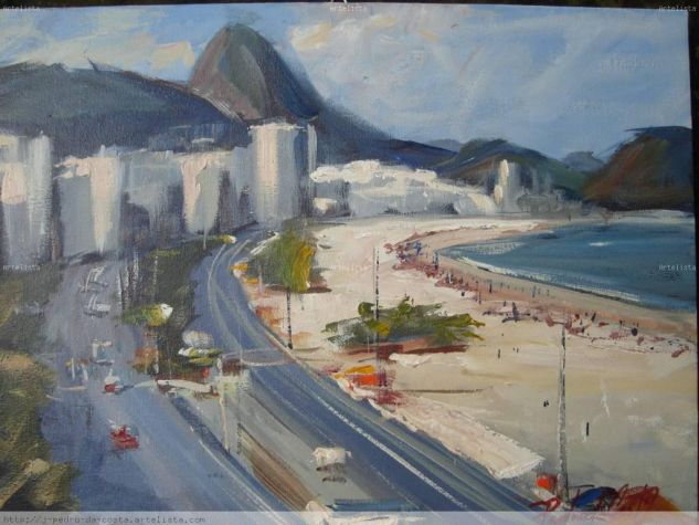 PRAIA DE COPACABANA - RIO DE JANEIRO - BRASIL Acrílico Tela Floral