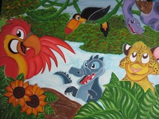 La Selva Acrílico Tabla Animales