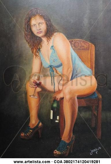Mujer Bohemia Canvas Oil Figure Painting
