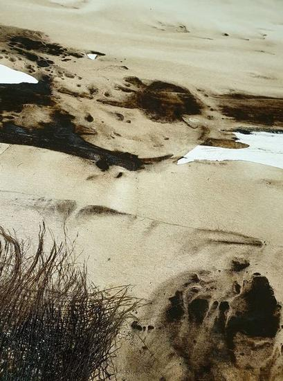 Playa virgen. Tornado Paisaje Media Mixta Lienzo