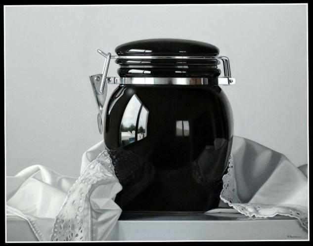 Elegance in black and white Óleo Lienzo Bodegones