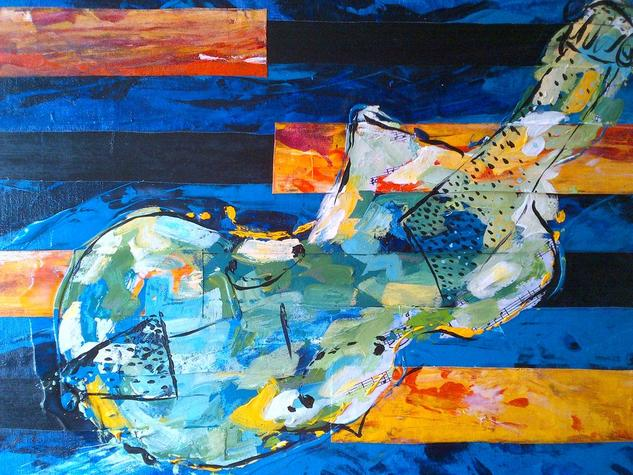 IMAGINARIO VIOLIN 40X 60 Tabla Media Mixta Figura