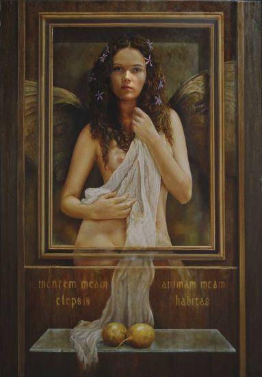 Angel con frutos de pasión