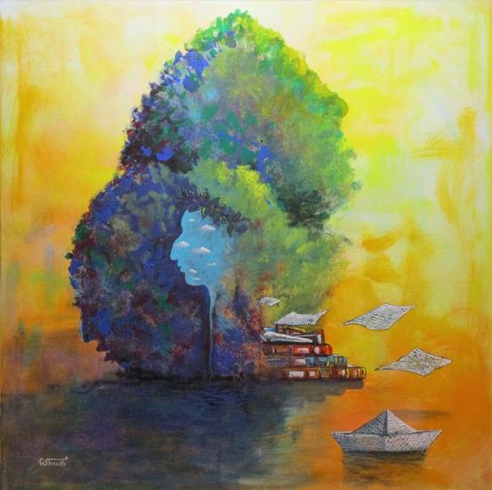 L'isola dei poeti Tela Acrílico Otros
