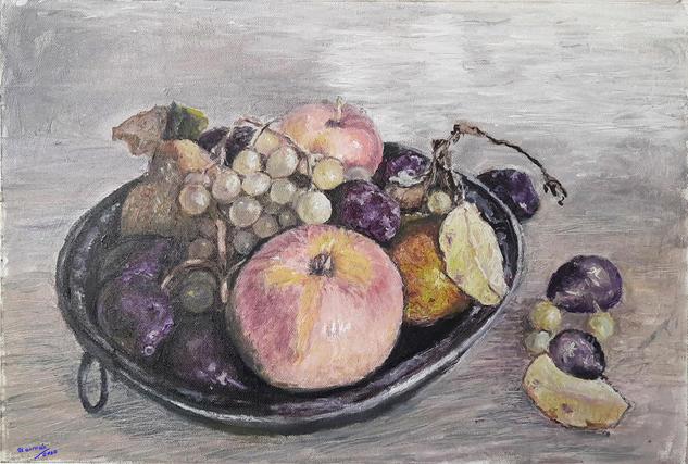 bodegón de frutas Bodegones Óleo Lienzo