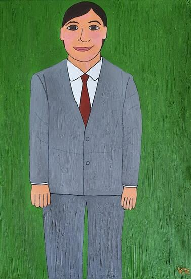Mi tío Nino Retrato Óleo Lienzo