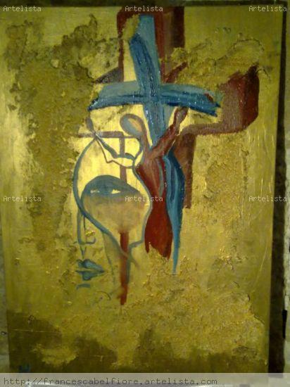 Il mio Golgota Oil Canvas Landscaping