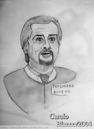 Homenaje a Fernando Botero pintor de volúmenes Carboncillo