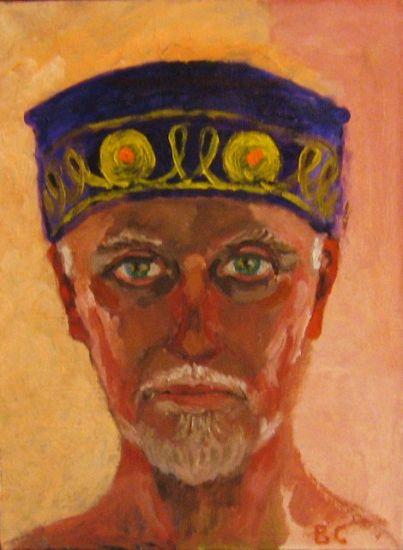 Hombre en kipa Óleo Lienzo Retrato