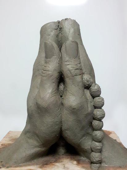 Prayer Terracota Figurativa