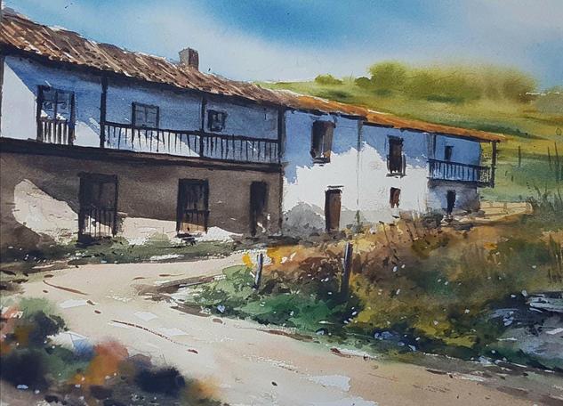 aldea asturiana Landscaping Watercolour Paper