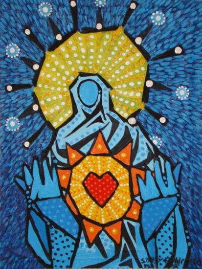 Sagrado Coração de Maria Others Acrylic Textile