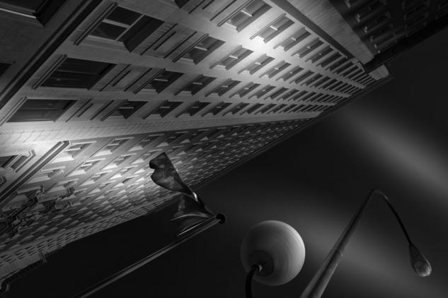 Torre Madrid Blanco y Negro (Digital) Arquitectura e interiorismo