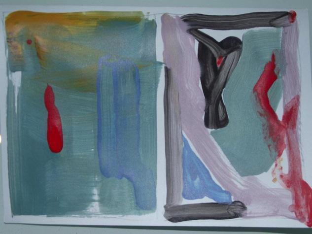 boceto abstracto 2 Cartulina Otros Acrílico