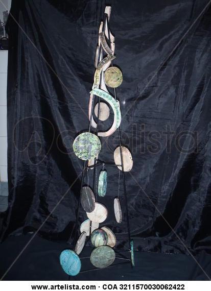 Trilogía Circular Cerámica Abstracta
