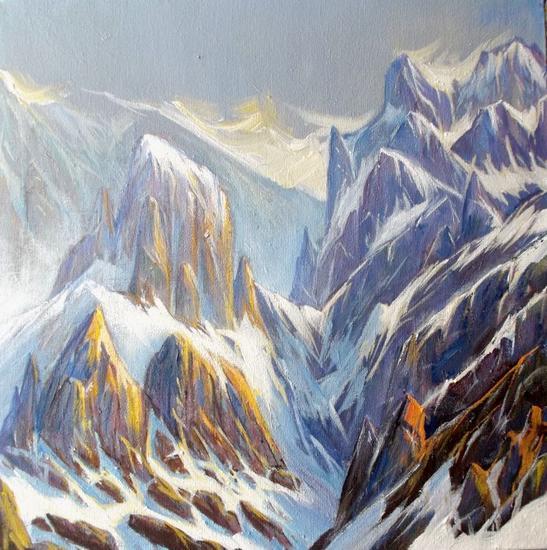Picos de Europa-Invierno - 234 Lienzo Acrílico Paisaje