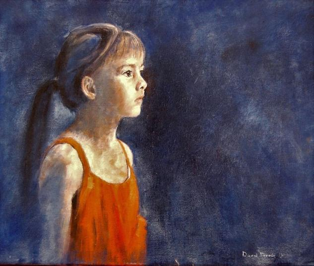 Niña 2016 Canvas Oil Portrait