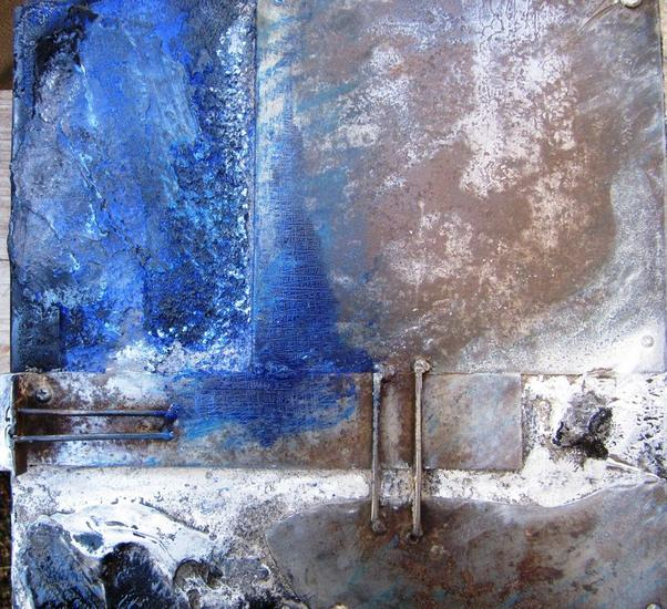 SERIE: AL FINAL DE LA TARDE 3-12 Metal Abstracta