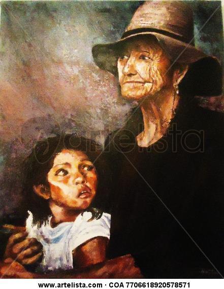 Generaciones Retrato Acrílico Lienzo