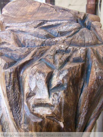 LLEGANDO A LA CUMBRE (DETALLE) Wood Abstract