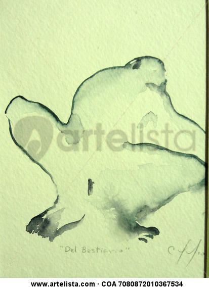 Del Bestiario Paper Watercolour Figure Painting