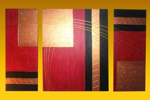 Cuadros abstractos tripticos imagui for Cuadros tripticos para salon