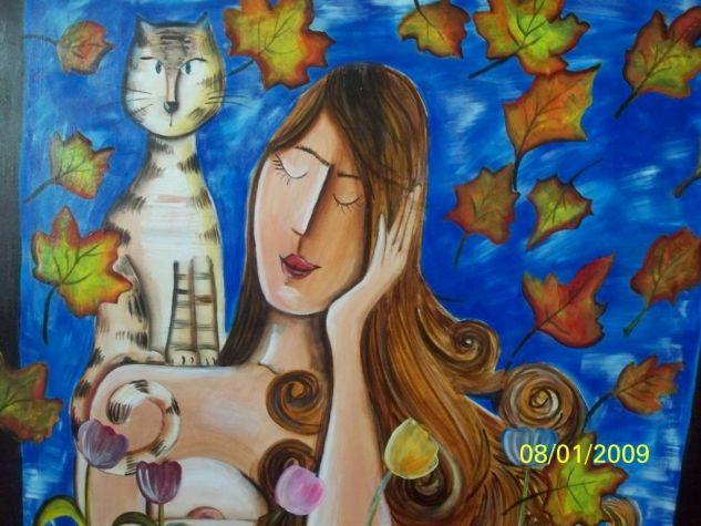 Sueño de Otoño Canvas Acrylic Portrait